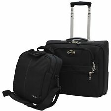 """E-Z Roll"" Brand Rolling Laptop Bag /Business Briefcase W/ Computer Shoulder Bag"