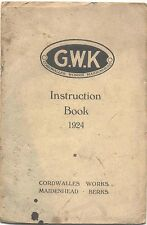 GWK 1924 Original Owners Instruction Book (Handbook)