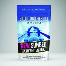 NEW Billion Dollar Smile ULTRA VIOLET Sunbed Teeth Whitening Kit Non Peroixde