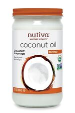 Nutiva Refined Coconut Oil 23 oz organic  RFC123 best by 2018-04-27