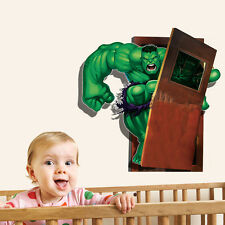 3D The Hulk The Avengers Removable Wall Sticker Vinyl Decal Kids Boy Room Decor
