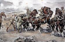 British Army Boer War 'Saving the Guns at Colenso' Repro Art Print 7x5 inches