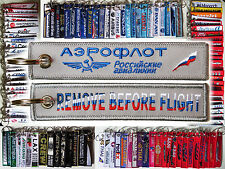 Aeroflot Russian Airlines tag keychain keyring REMOVE BEFORE FLIGHT
