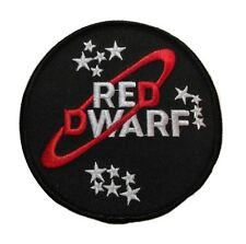 Red Dwarf Iron-on/Sew-on Embroidered Logo PATCH
