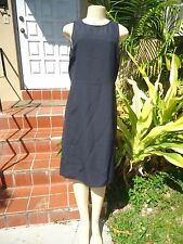 ARMANI COLLEZIONI BLACK SLEEVELESS FITTED LITTLE BLACK DRESS Sz 12 MADE IN ITALY