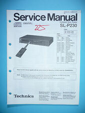 Service-Manual für Technics SL-P230  ,ORIGINAL