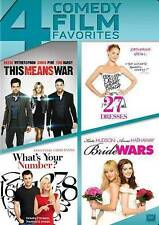 This Means War/27 Dresses/Whats Your Number/Bride Wars (DVD, 2014, 4-Disc Set)