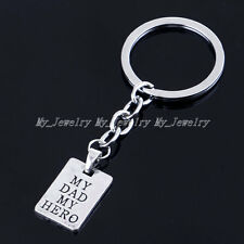 Fashion My Dad My Hero Charm Pendant Keyring Keychain Key Ring Chain Gift Party