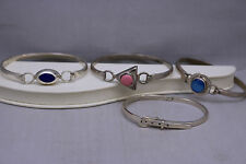 Vintage Lot of 4 Mexico 925 Sterling Silver Bangle Bracelets Cuffs