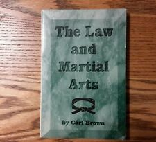 The Law And Martial Arts by Carl Brown Signed 2008 1st ed