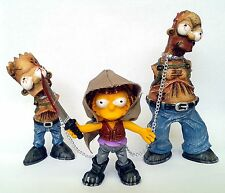 simpson parody, walking dead. lisa michonne, bart and homer zombie. mexican toy