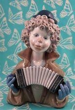 Lladro # 5585 ~ FINE MELODY~ Clown Bust W/Accordion * Mint * BUY 1 GET 1 50% OFF