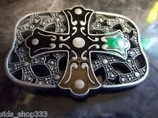 *` NEW CELTIC Design CROSS AND SHIELD Christian  ` Full Metal BELT BUCKLE