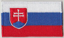 Slovakia Country Flag Embroidered Patch T4
