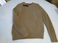 Men's Tommy Hilfiger long sleeve sweater shirt S 7844952 Emine HTR 876 khaki