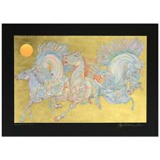 """Guillaume Azoulay """"Lever De Soleil (Black)"""" Limited Edition Serigraph. COA"""
