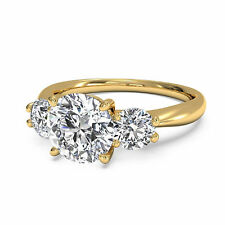 1.30Ct Diamond Engagement Rings 14kt Yellow Gold Princess Round Cut  VVS1/D 212