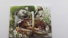 HANDMADE MINIATURE DOLLS HOUSE ACCESSORY CANVAS STYLE WALL ART PICTURE BIRDS