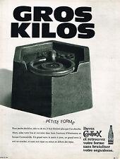 PUBLICITE ADVERTISING 045  1969   CONTREX  eau minérale contre LES GROS KILOS