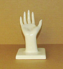 Ceramic Right Hand for Jewelry display or wall hanging for scarf display.