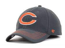 Chicago Bears NFL Game Time Closer Stretch Fit Charcoal Gray Cap Hat Lid L/XL C