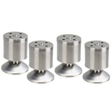 4PCS Stainless Steel Feet Furniture Wardrobe Table Cabinet Sofa Corner Legs 80MM