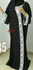 Women open front abaya.japanese Neda /linen material.new model  size 52.54.56.58