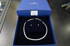 Swarovski 5007747 Tennis Set, Necklace 38cm Earring 0.5cm Authentic