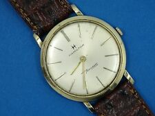 60's SOLID 14K GOLD  HAMILTON Thin-O-Matic MICRO ROTOR SWISS MEN WATCH  *WORKING