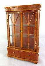 Dolls House Miniature Furniture Art Deco China Cabinet Real Glass Doors