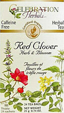 Red Clover Herb and Flower Tea, Celebration Herbals, 24 tea bag