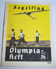 OLYMPICS 1936  Booklet  -  Gliding.   Nr.24.
