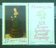 POLAND STAMPS MNH Fi2772 ScB142 Mi2920 -Congress of the Postal Union,1984,clean