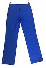 PRADA Bold Blue Polyester Lined Golf Golfing Trousers 32