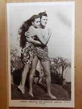 Postcard Film Stars Dorothy Lamour & Robert Preston unposted real photo  .XC2
