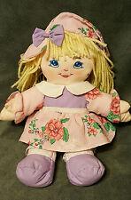 """1996 Precious Mine Baby Doll WellMade Toys Cloth Blue Eyes Bond Yarn Hair 12"""""""