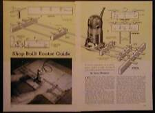 Router Guide Great for Large Panels How-To Build PLANS