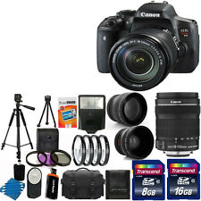 Canon EOS Rebel T6i DSLR Camera + 3 lens 18-135mm STM + 24GB Best Value Bundle