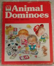 WHITMAN Animal Dominoes Cardboard VINTAGE 1976