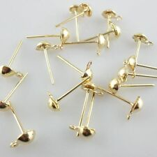 100/500pcs Plated Gold/Silver Stud Earring Ear nail DIY Jewelry Accessories