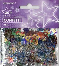 2 PACK 30TH BIRTHDAY CONFETTI /  TABLE SPRINKLES MULTI COLOURS TABLE DECORATIONS
