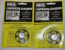 2 Pack HKS 29-M Speed Loader S&W Ruger Redhawk Dan Wesson 44 SPL 44 Mag
