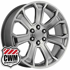 22 inch OE Performance 166H GMC Sierra Wheels Hyper Silver Rims 6 lug fit Chevy