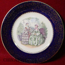 SALEM china GODEY PRINTS dark blue SERVICE PLATE #14