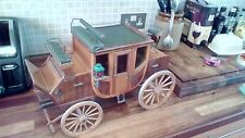 Horse Stage Coach model _ wooden hand built