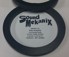 """PVC Plastic Speaker / Spacer Rings, 5 1/4"""" 12MM Thick One Pair Made in USA"""