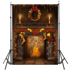3x5ft Classic Christmas Candle Photography Vinyl Cloth Props Backdrop