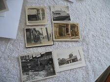 VINTAGE LOT OF 8 REAL PHOTOS OLD GROCERY AND FURNITURE STORES