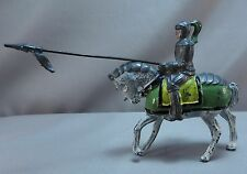 Vintage Lead  Knight on a Horse w Moveable Arm / Figurines