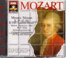 Mozart: Masses (Messe) K.49, 65, 140, 144, 220, 224a /  Peter Neumann - CD Emi